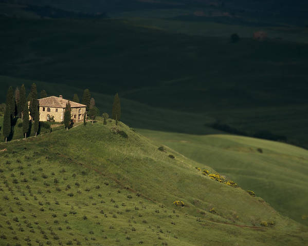 Tuscany. Tuscan. Toscana Poster featuring the photograph Belvedere House by Andrew Soundarajan