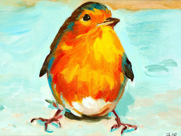 Bird Poster featuring the painting Bloorp by Debbie Beukema