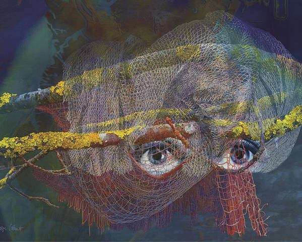 Fantasy Poster featuring the digital art Blowfish by Helga Schmitt