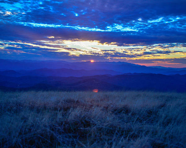 Blue Ridge Mountains Poster featuring the photograph Blue Ridge Sunset by Ryan Phillips
