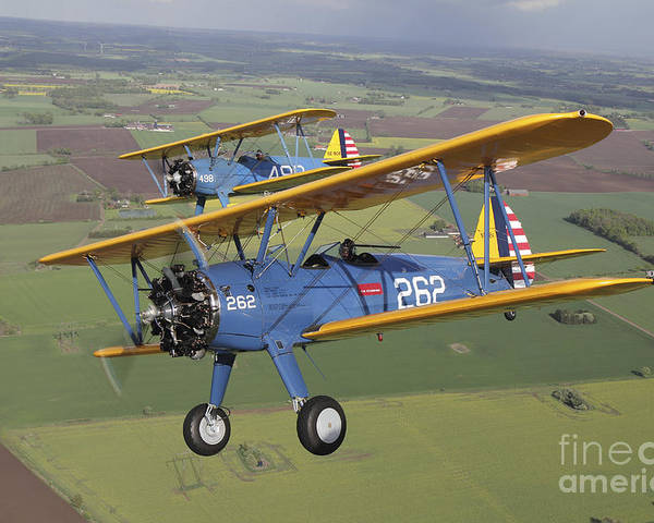 Transportation Poster featuring the photograph Boeing Stearman Model 75 Kaydet In U.s by Daniel Karlsson