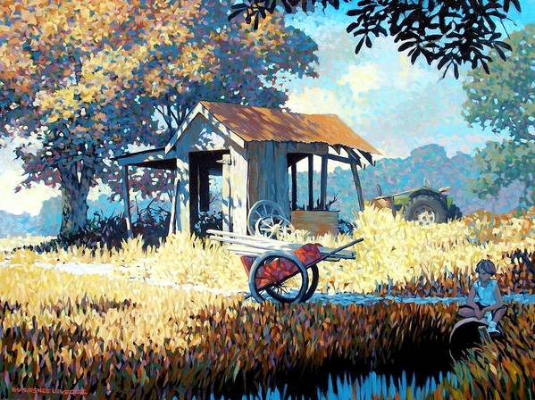 Cart Poster featuring the painting Breaktime by Kevin Lawrence Leveque