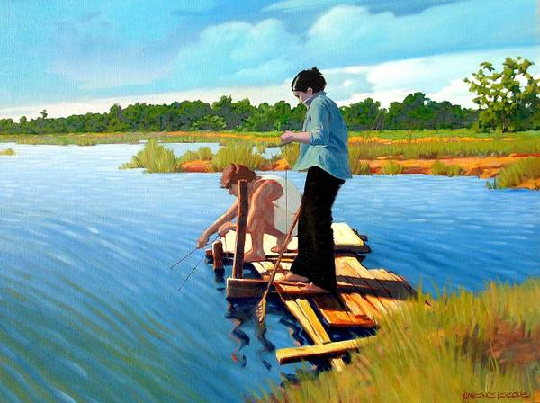 Water Poster featuring the painting Bring The Bucket by Kevin Lawrence Leveque