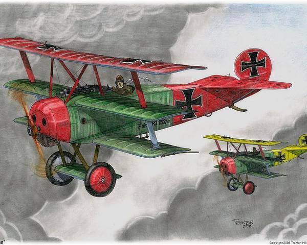 Aircraft Poster featuring the drawing Brothers In Arms by Trenton Hill