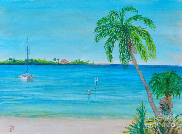 Cape Coral Beach Poster featuring the painting Cape Coral Beach by Christine Dekkers