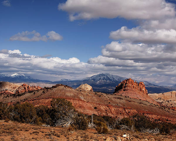 Capitol Reef National Park Poster featuring the photograph Capitol Reef National Park Burr Trail by Mark Smith