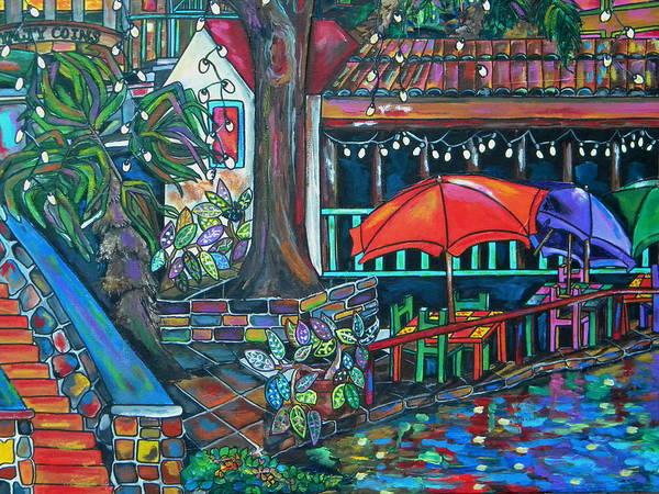 San Antonio Poster featuring the painting Casa Rio by Patti Schermerhorn