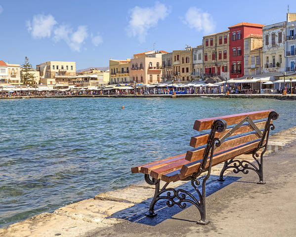 Venetian Harbor Poster featuring the photograph Chania - Crete by Joana Kruse