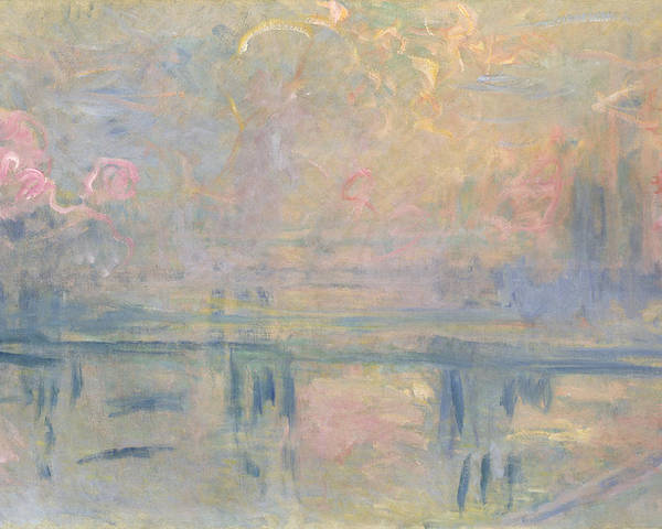 Impressionist Poster featuring the painting Charing Cross Bridge by Claude Monet