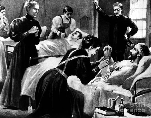 1898 Poster featuring the photograph Clara Barton (1821-1912) by Granger