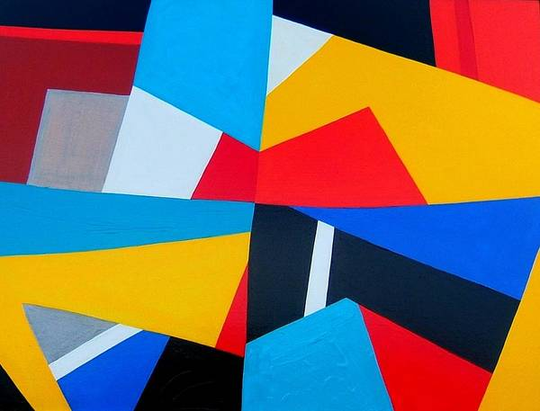 Abstract Poster featuring the painting Closing Time by Dick Sauer