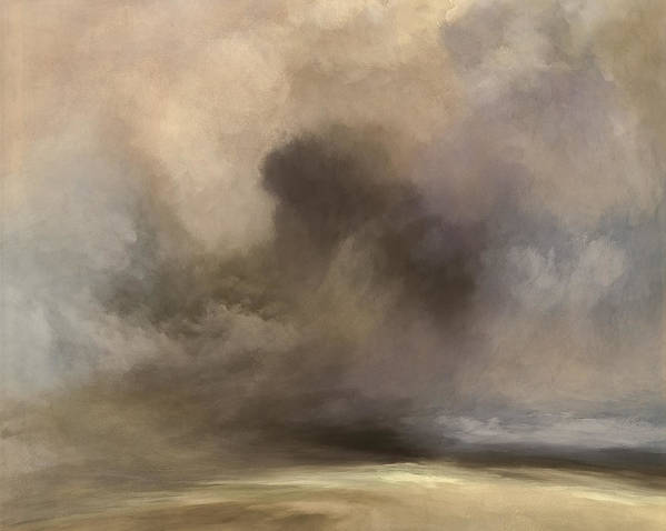 Lc Bailey Poster featuring the mixed media Cloudy Horizon by Lonnie Christopher
