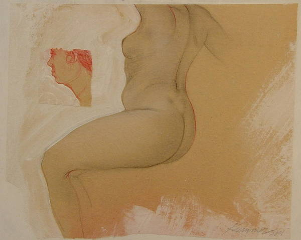 Female Nude Poster featuring the painting Composite Female Nude by Gary Kaemmer