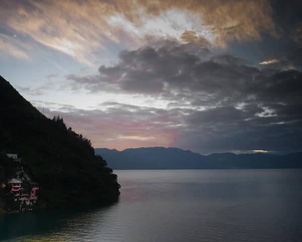 Central Poster featuring the photograph Dawn At Casa De Mundo Lake Atitlan 1 by Douglas Barnett