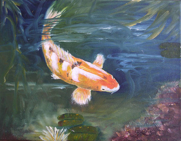 Koi Poster featuring the painting Doitsu Koi by Barbara Harper