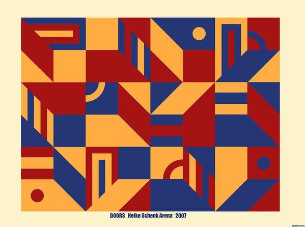 Door Poster featuring the digital art Doors by Heike Schenk-Arena