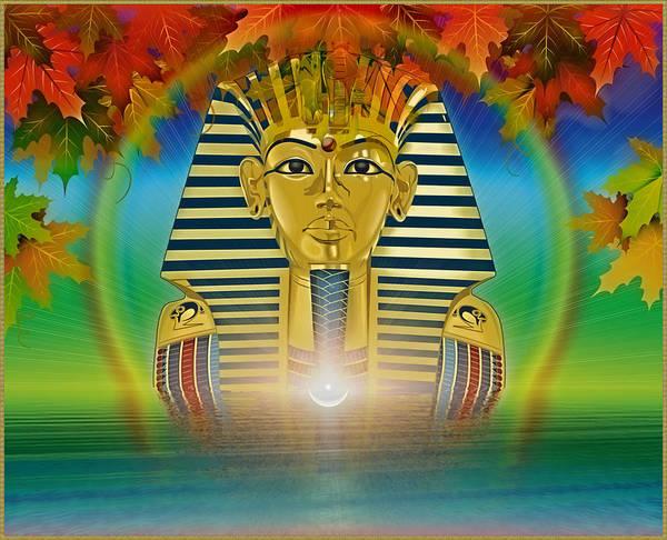Symbolic Digital Art Poster featuring the digital art Egyptian Wisdom by Harald Dastis