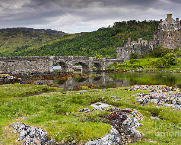 Dornie Poster featuring the photograph Eilean Donan by Sebastian Wasek