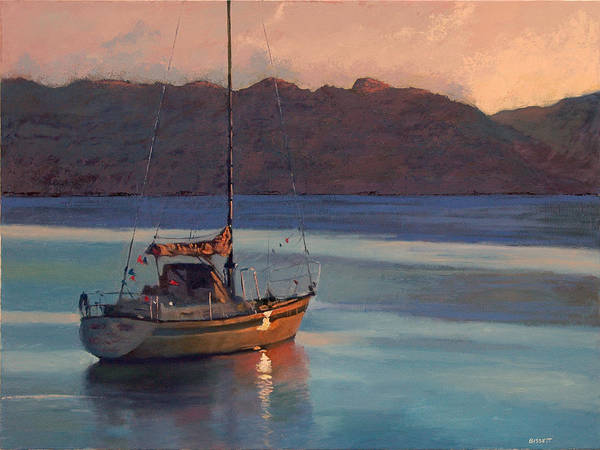 Sail Poster featuring the painting End Of Day by Robert Bissett
