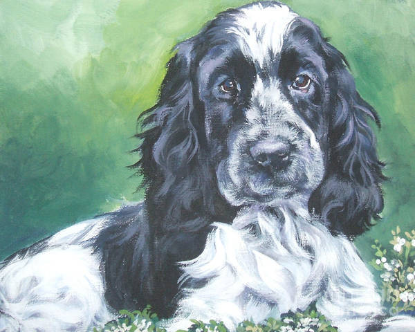 English Cocker Spaniel Poster featuring the painting English Cocker Spaniel by Lee Ann Shepard