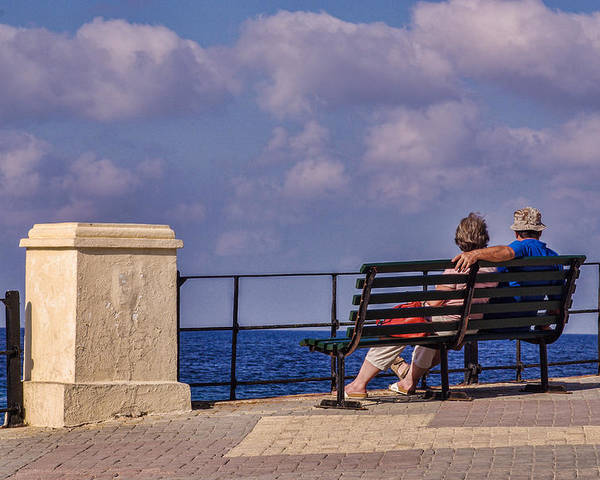 Malta Poster featuring the photograph Enjoying The View by Christine Czernin Morzin
