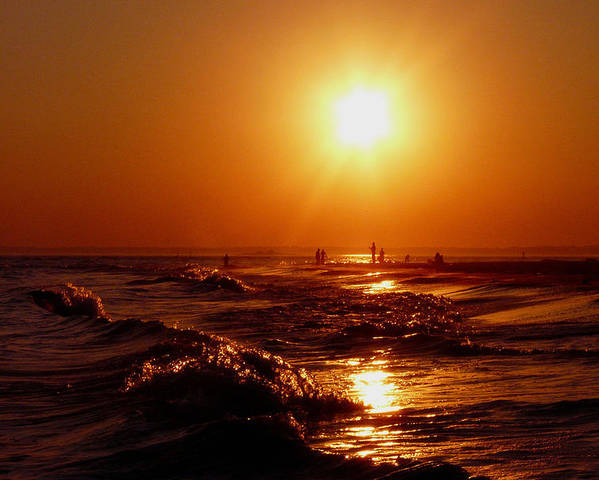 Sunset Poster featuring the photograph Extreme Blazing Sun by Kendall Eutemey