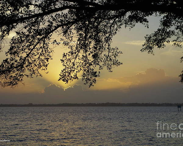 Sunset Poster featuring the photograph Farewell Sunset by Tannis Baldwin