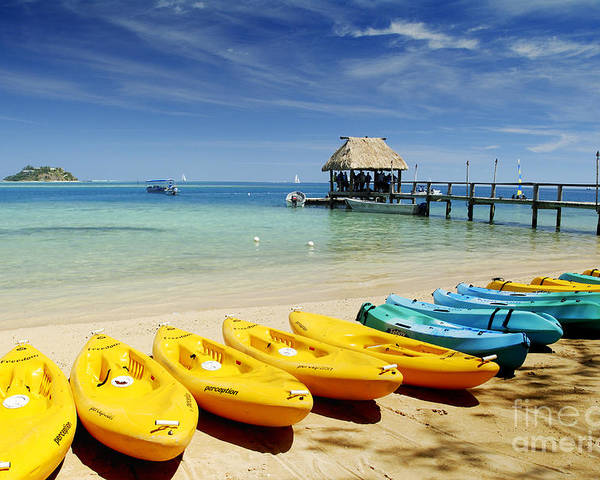 Afternoon Poster featuring the photograph Fiji, Malolo Island by Himani - Printscapes