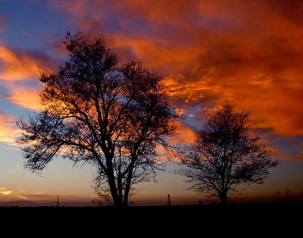 Sunset Poster featuring the photograph Fire In The Sky by Peter Piatt