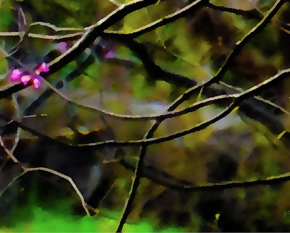 Abstract Digital Art Poster featuring the painting First Sign Of Spring by Gerlinde Keating - Galleria GK Keating Associates Inc