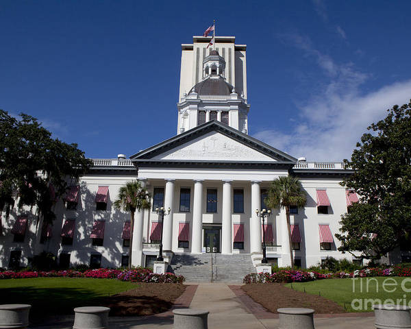 Florida Poster featuring the photograph Florida State Capitol Building by Anthony Totah