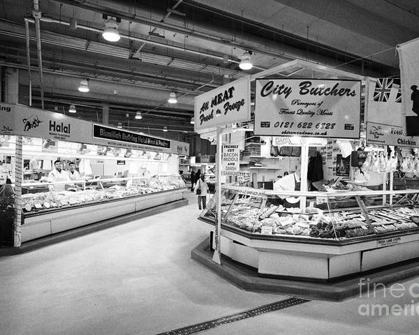 Fresh Poster featuring the photograph fresh food at the bullring indoor market Birmingham UK by Joe Fox
