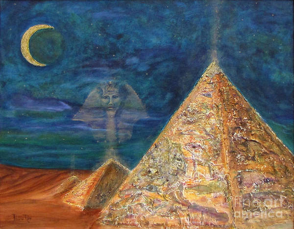 Pyramids Poster featuring the painting Gabriel by Pauline Ross