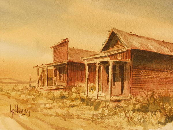 Historic Poster featuring the painting Gold Point Nevada by Kevin Heaney