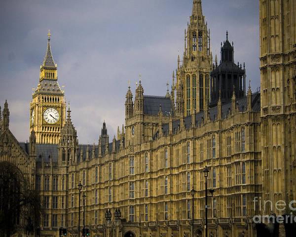 London Poster featuring the photograph Golden Big Ben by Joshua Francia