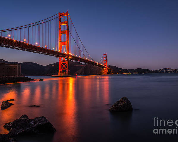 Landscapes Poster featuring the photograph Golden Gate by Maricel Quesada
