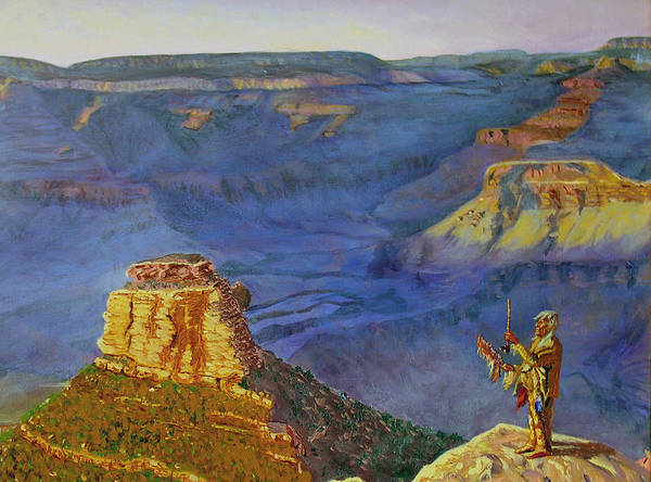 Grand Canyon Poster featuring the painting Grand Canyon V by Stan Hamilton