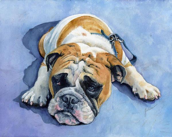 Bulldog Poster featuring the painting Gumdrop by Galen Hazelhofer