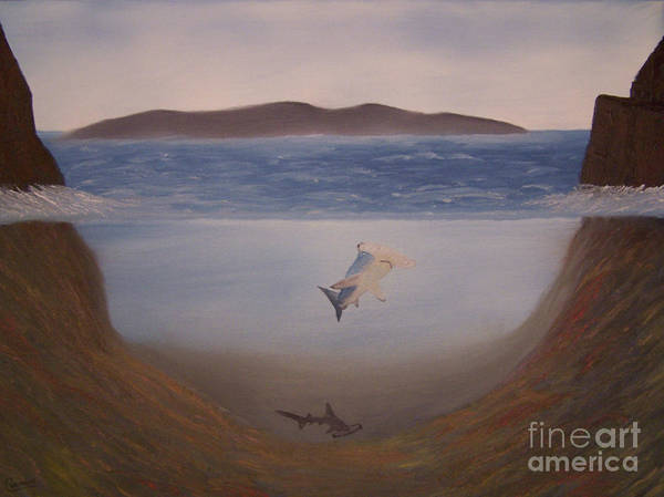 Landscapes Poster featuring the painting Hammerheads by Chet Wheeler