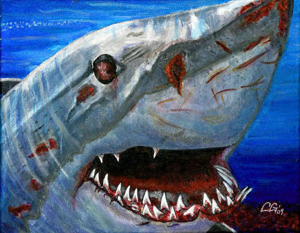 Animals Poster featuring the painting Happy Shark by BlondeRoots Productions