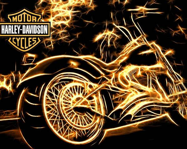 Harley-davidson Poster featuring the photograph Harley-davidson by Aaron Berg