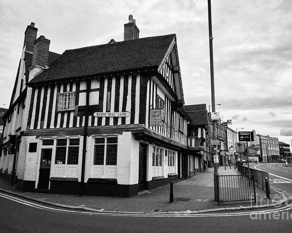 Heath Poster featuring the photograph heath mill lane and the old crown pub Birmingham UK by Joe Fox