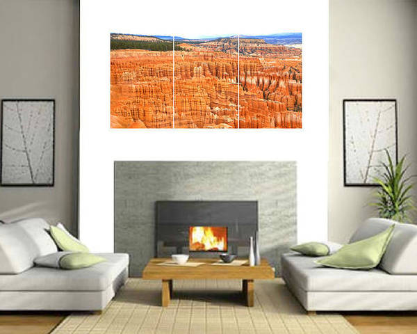 0887 Poster featuring the photograph Hoodoos Of Bryce Canyon by Gordon Elwell