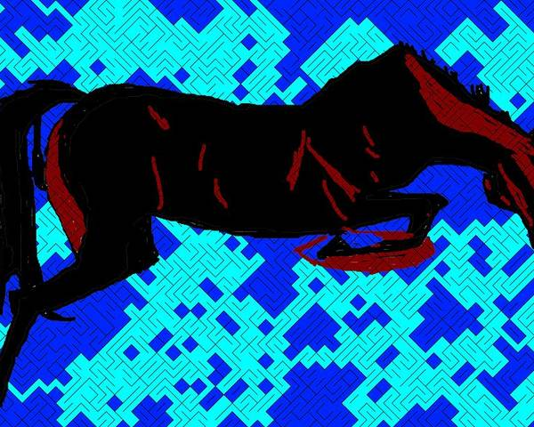 Horse-8 Poster featuring the digital art Horse-8 by Anand Swaroop Manchiraju