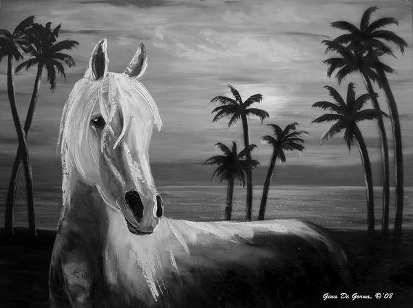 Horses Poster featuring the painting Horses In Paradise Tell Me Your Dream by Gina De Gorna