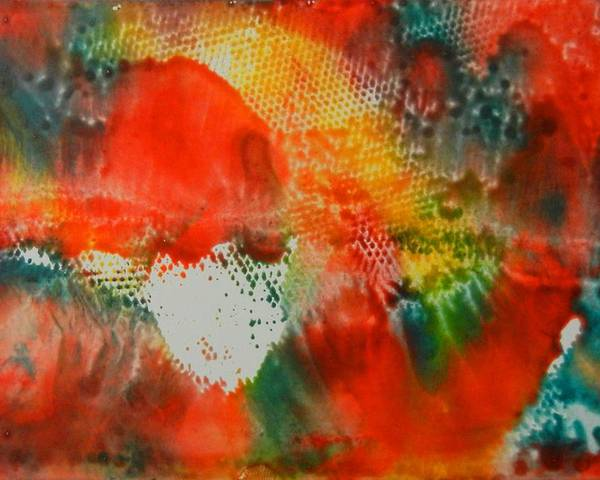 Abstract Poster featuring the painting Inferno by Kruti Shah