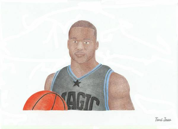 Jameer Nelson Poster featuring the drawing Jameer Nelson by Toni Jaso