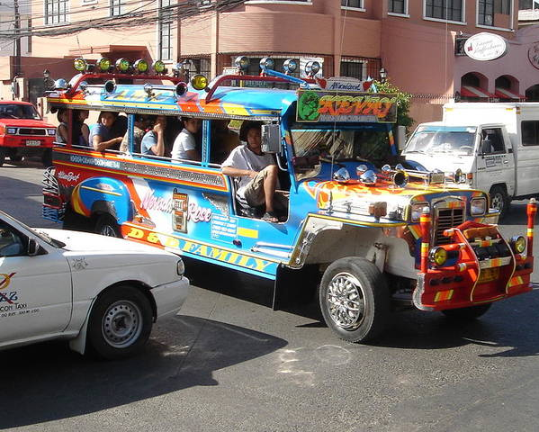 Jeepney Poster featuring the photograph Jeepney 04 by Mike Holloway