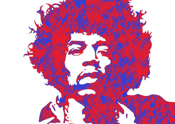 Famous Poster featuring the digital art Jimi Hendrix by Chris Smith