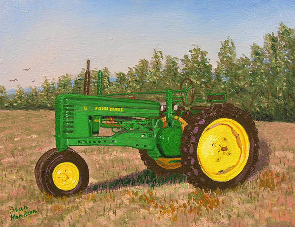 Tractor Poster featuring the painting John Deere Model B by Stan Hamilton